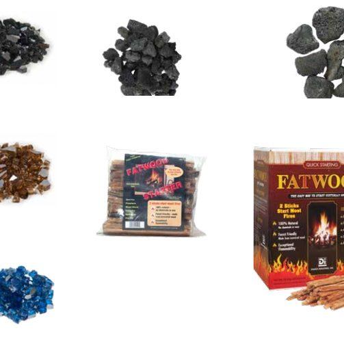 Fireplace Media & Lava Rock