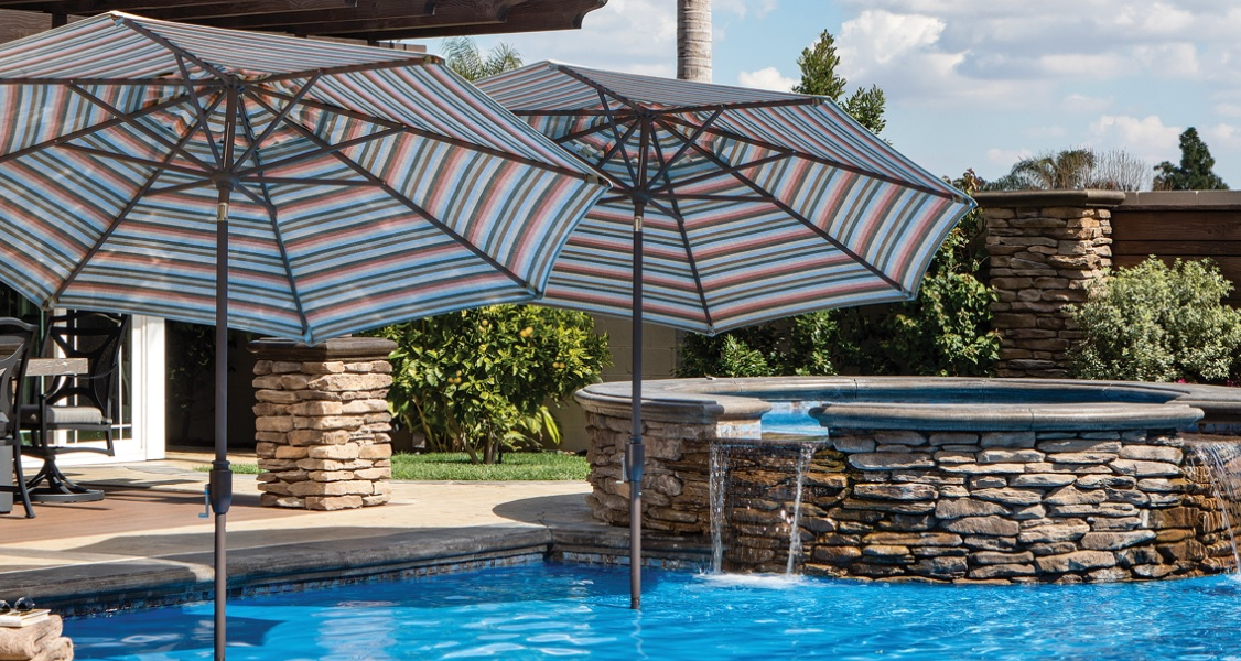 Patio umbrellas for cool restful shade